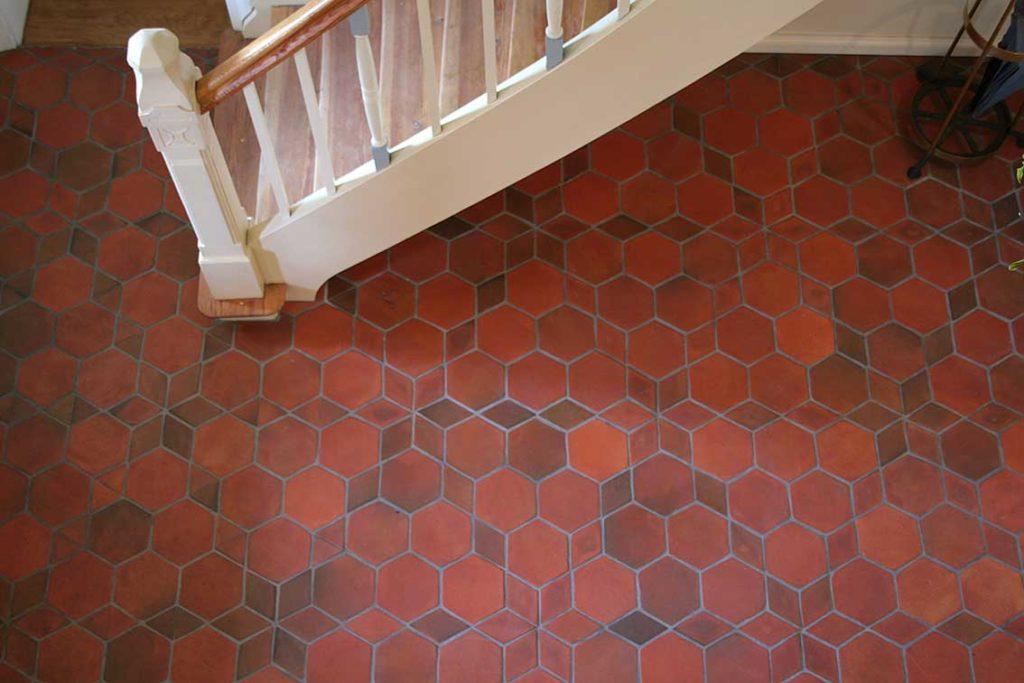 kafelki podłogowe czerwone