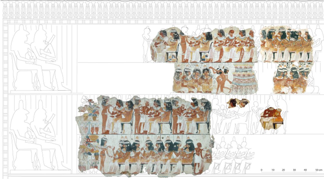 Nebamun perspektywa rzedowa Egipt