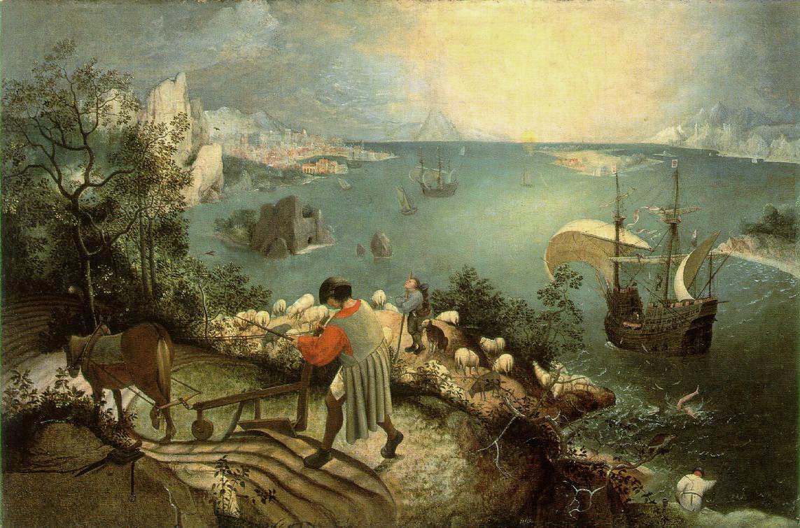 Upadek Ikara Pieter Breugel Starszy
