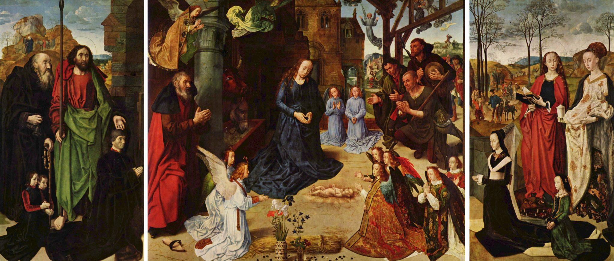 Hugo van der Goes Tryptyk Portinarich Adoracja Dzieciątka